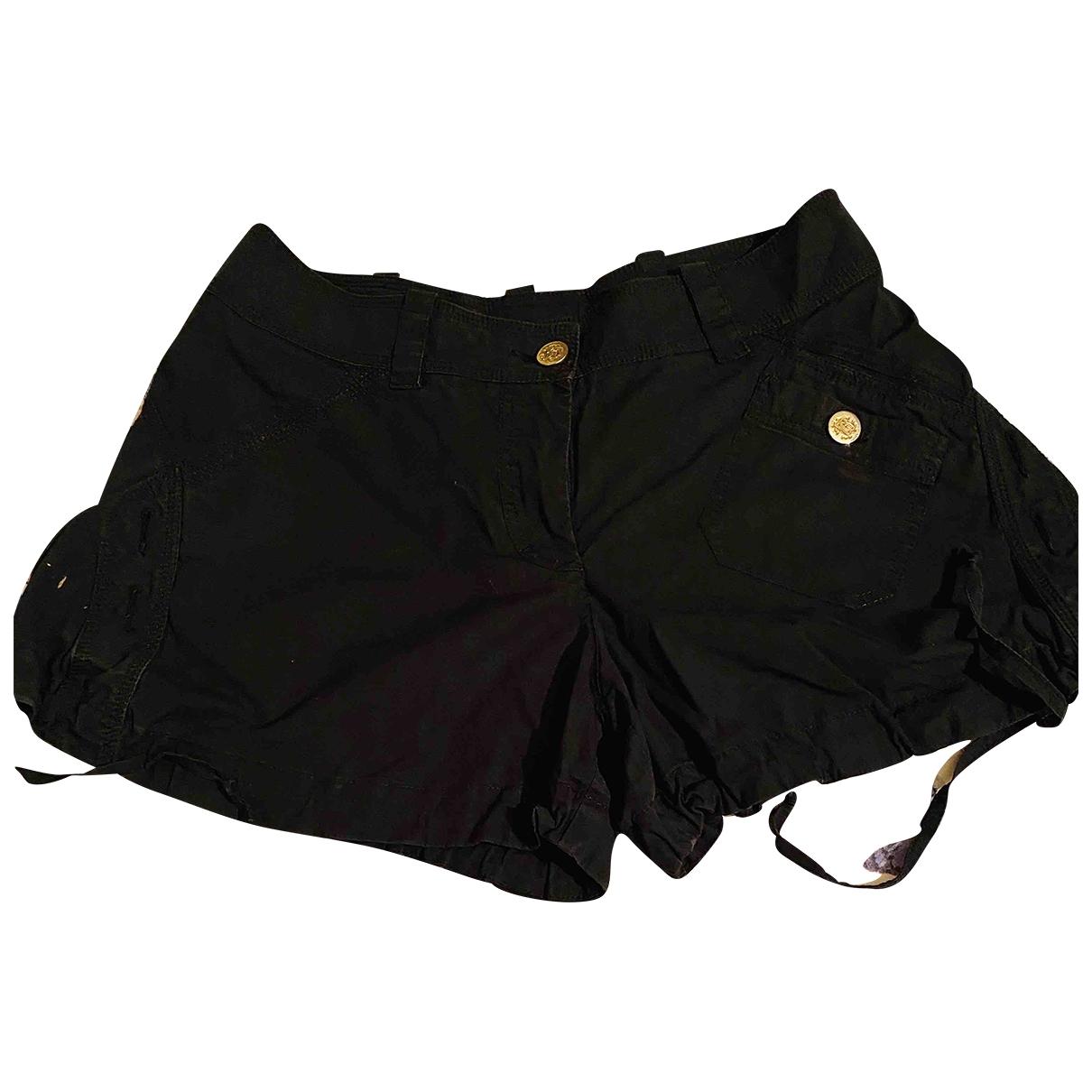 Roberto Cavalli \N Black Cotton Shorts for Women 40 IT