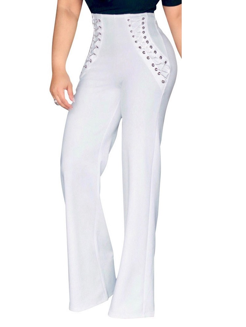 Ericdress Loose Plain Straight Full Length Casual Pants