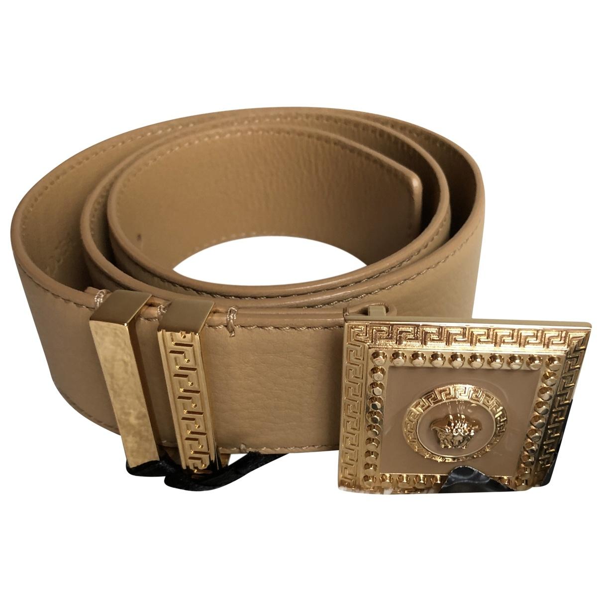 Versace \N Beige Leather belt for Women 75 cm