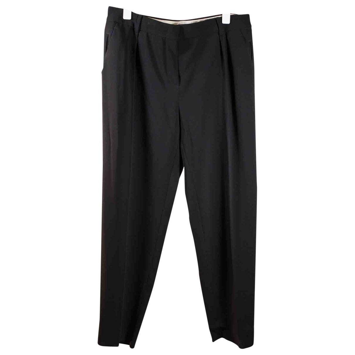 Max Mara Studio \N Black Trousers for Women 44 FR