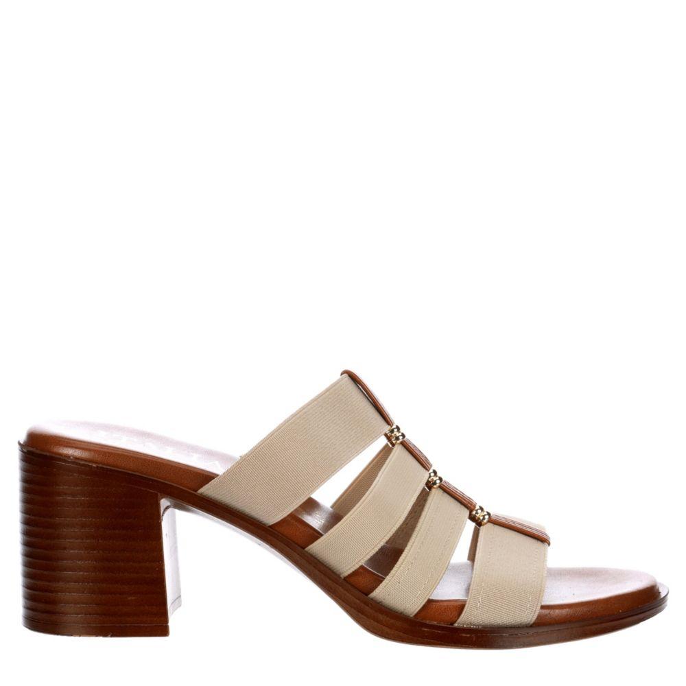 Italian Shoesmakers Womens Jonelle Heeled Mule Slides Sandals