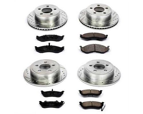 Power Stop KC2798 Z23 Evolution Sport Performance Brake Kit w/Calipers Front & Rear KC2798
