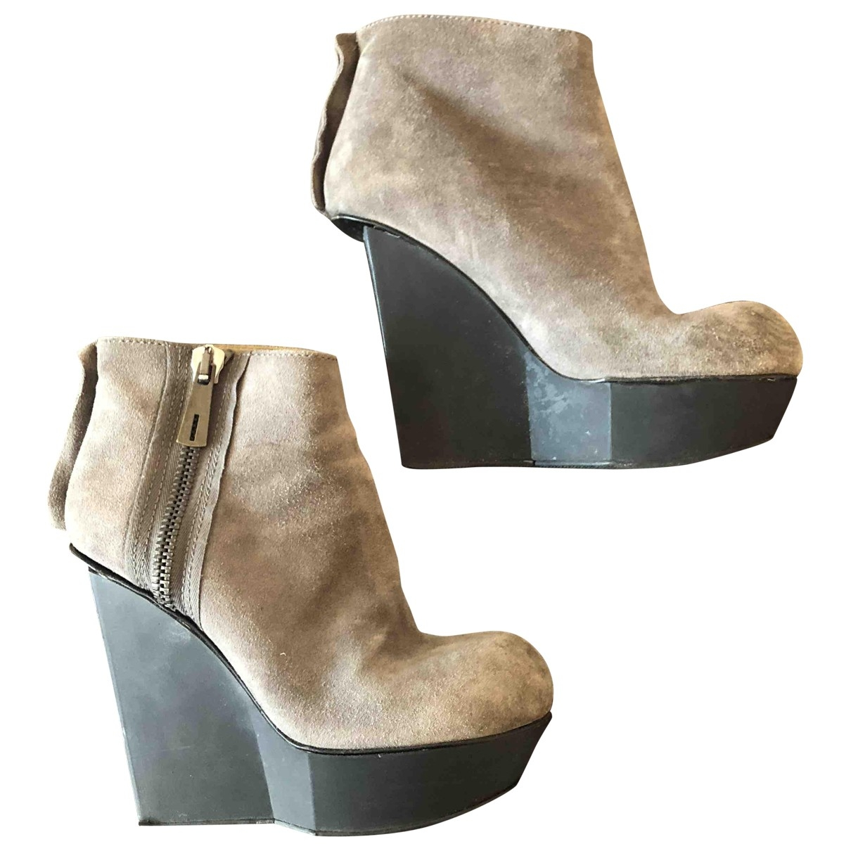 Acne Studios \N Grey Suede Boots for Women 37 EU