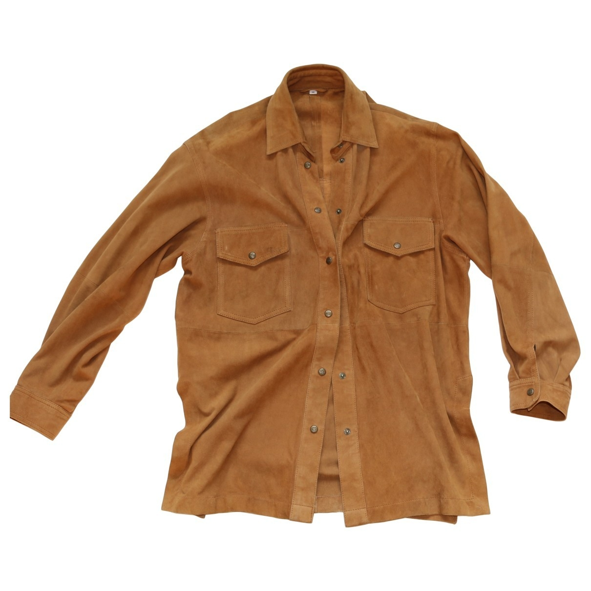 Non Signé / Unsigned \N Camel Suede  top for Women One Size International