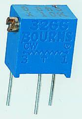 Bourns 20Ω, Through Hole Trimmer Potentiometer 0.25W Side Adjust , 3266