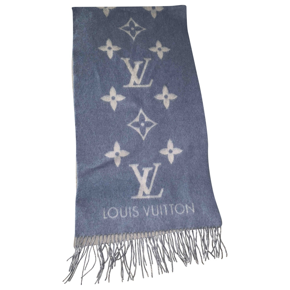 Louis Vuitton \N Blue Cashmere scarf for Women \N