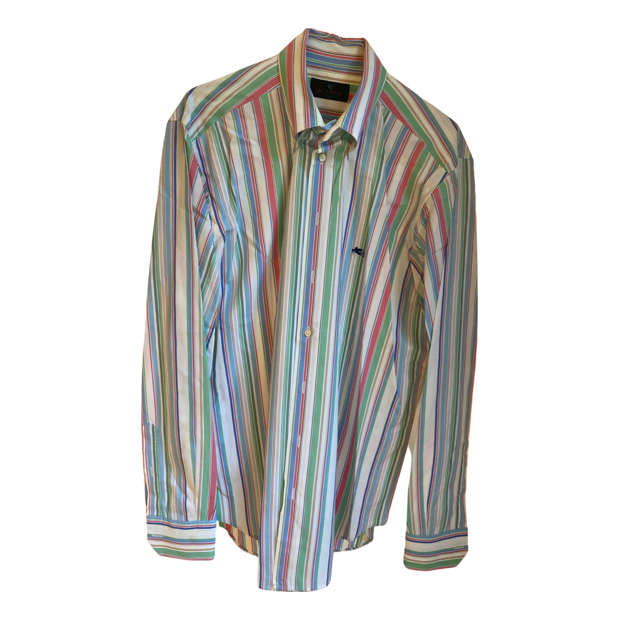 Etro \N Multicolour Cotton Shirts for Men 42 EU (tour de cou / collar)