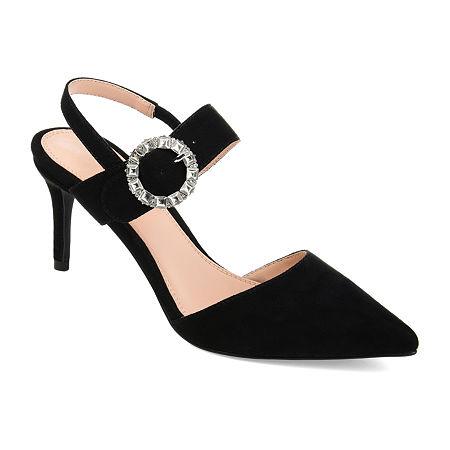 Journee Collection Womens Cecelia Pointed Toe Stiletto Heel Pumps, 9 Medium, Black