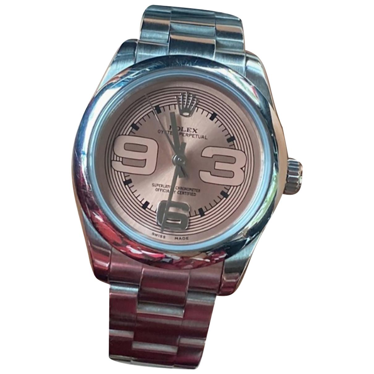 Rolex Oyster Perpetual 31mm Silver Steel watch for Women \N