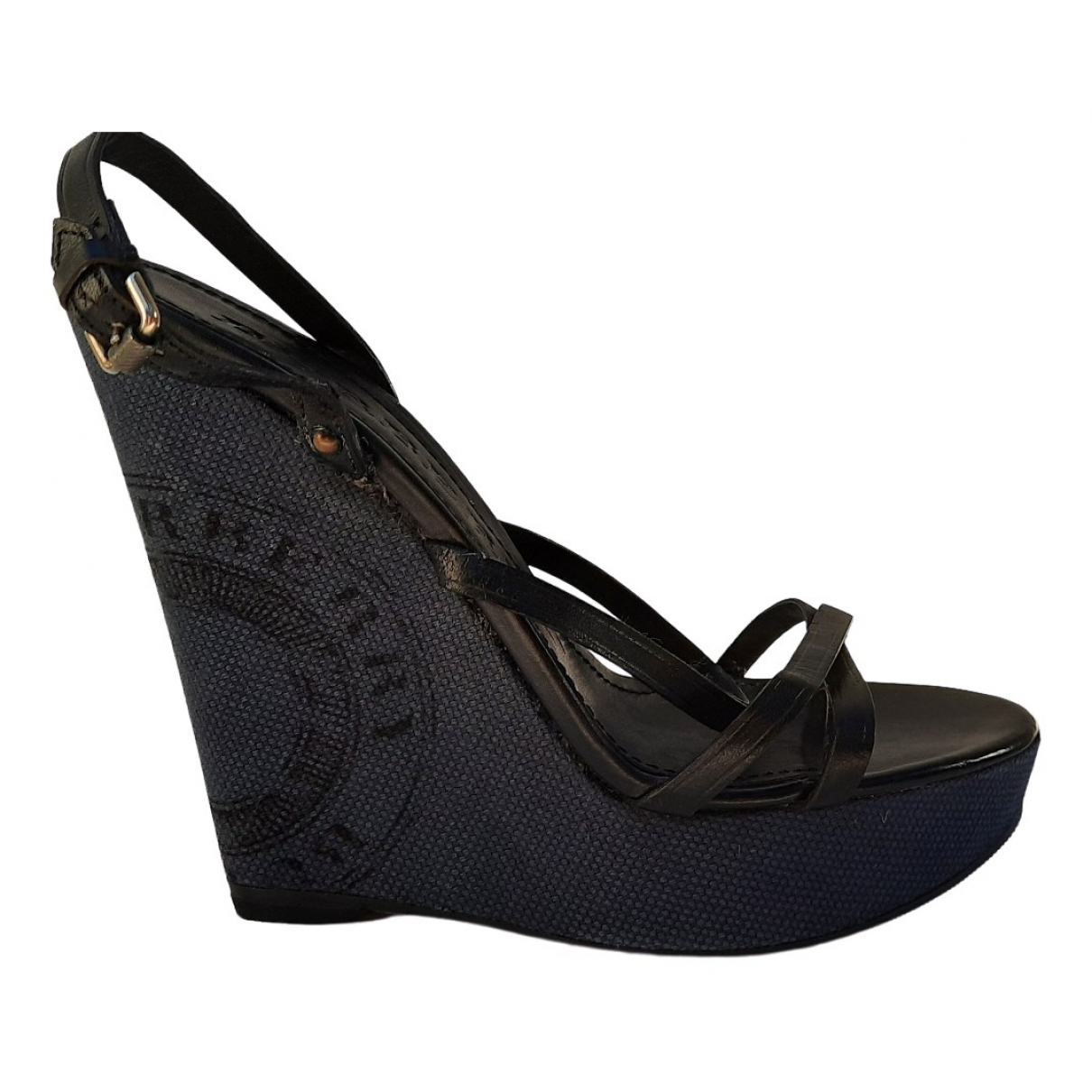 Burberry \N Black Leather Sandals for Women 38 EU