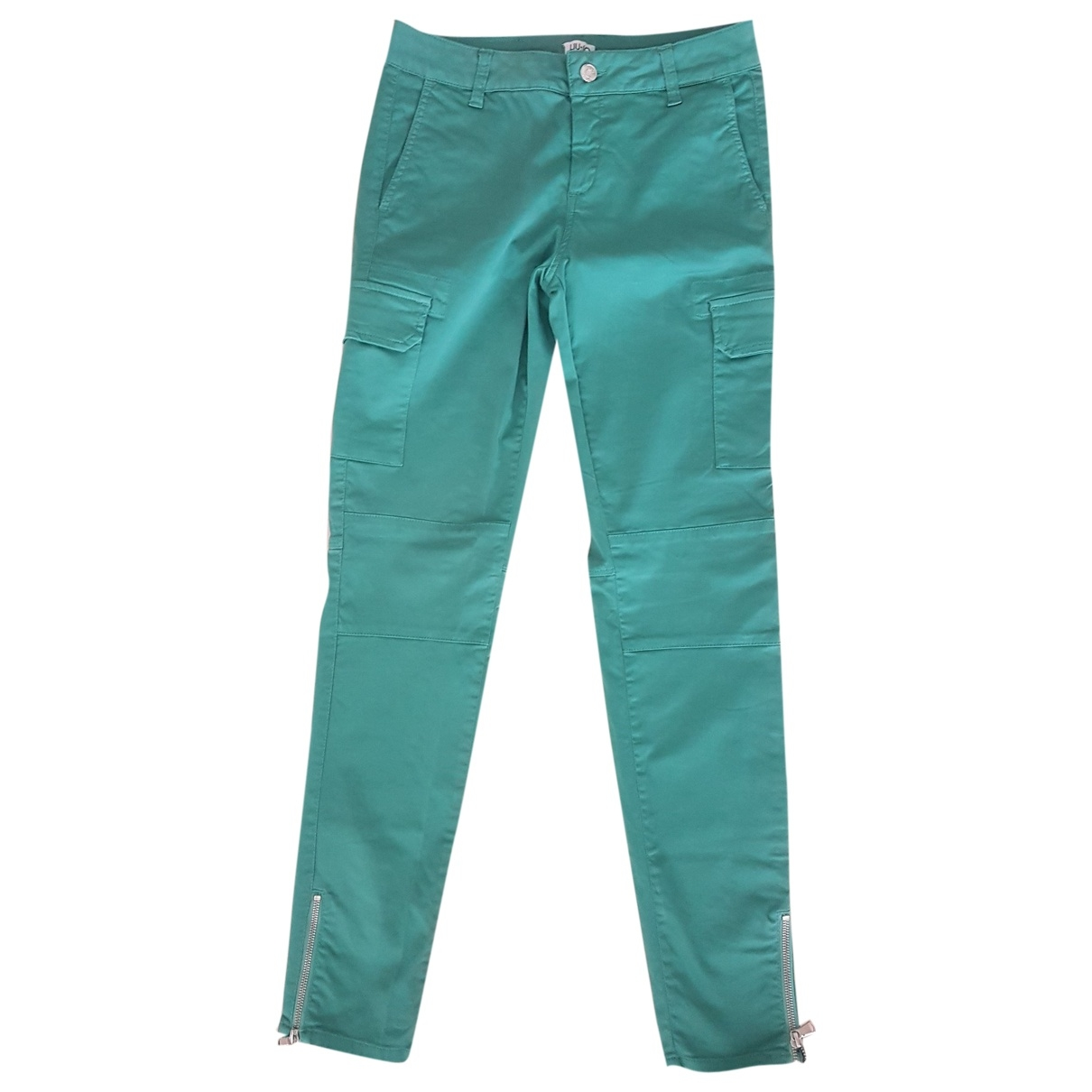 Liu.jo \N Green Cotton Trousers for Women 38 FR