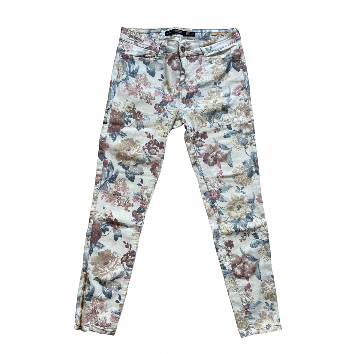 Zara \N Beige Cotton - elasthane Jeans for Women 28 US