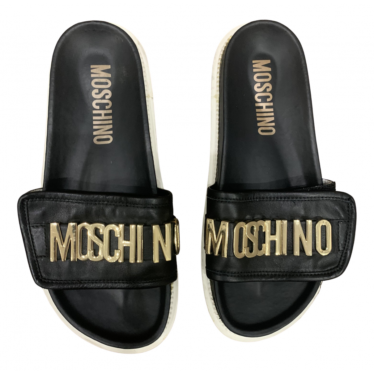 Moschino \N Black Leather Sandals for Women 40 EU