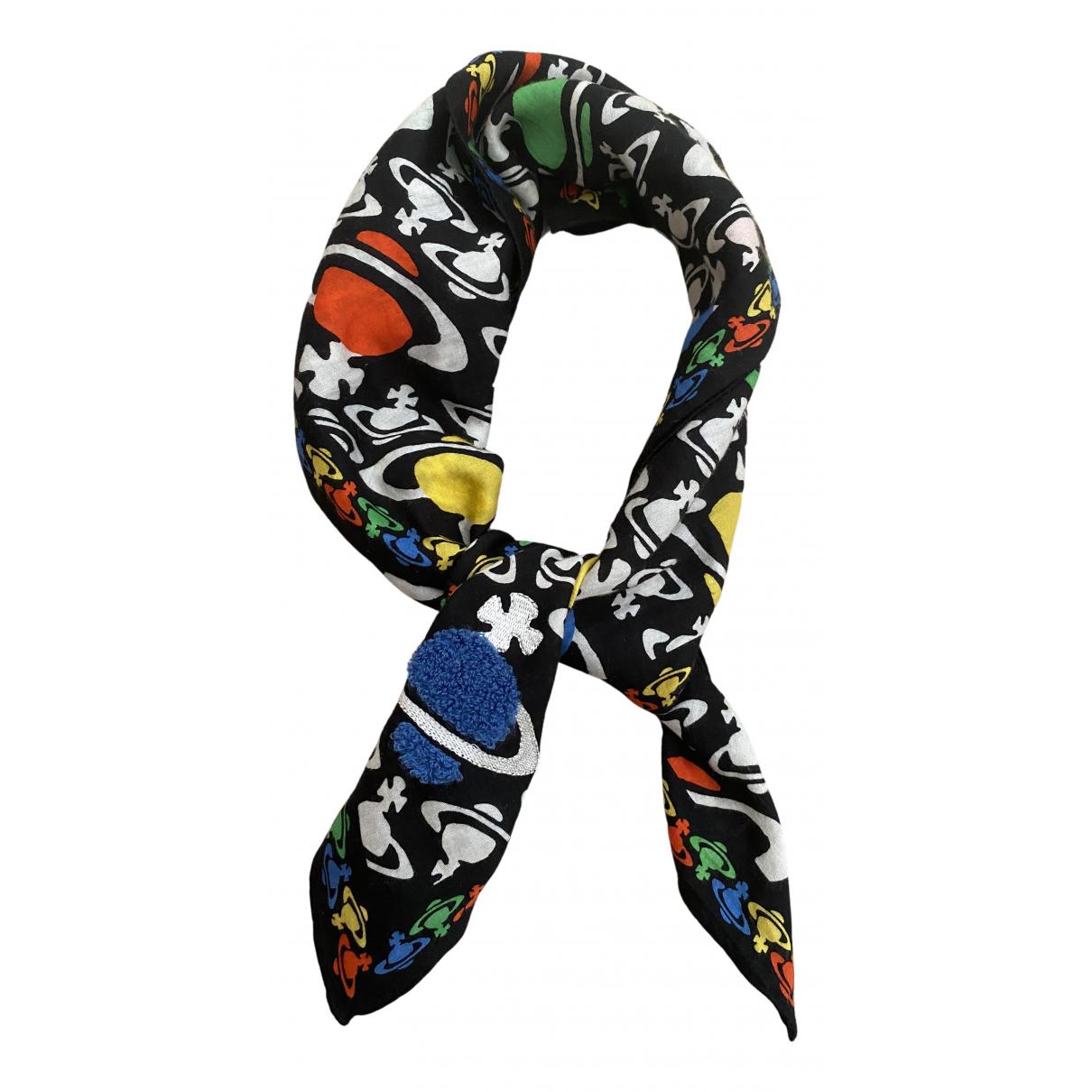 Vivienne Westwood \N Black Cotton scarf for Women \N