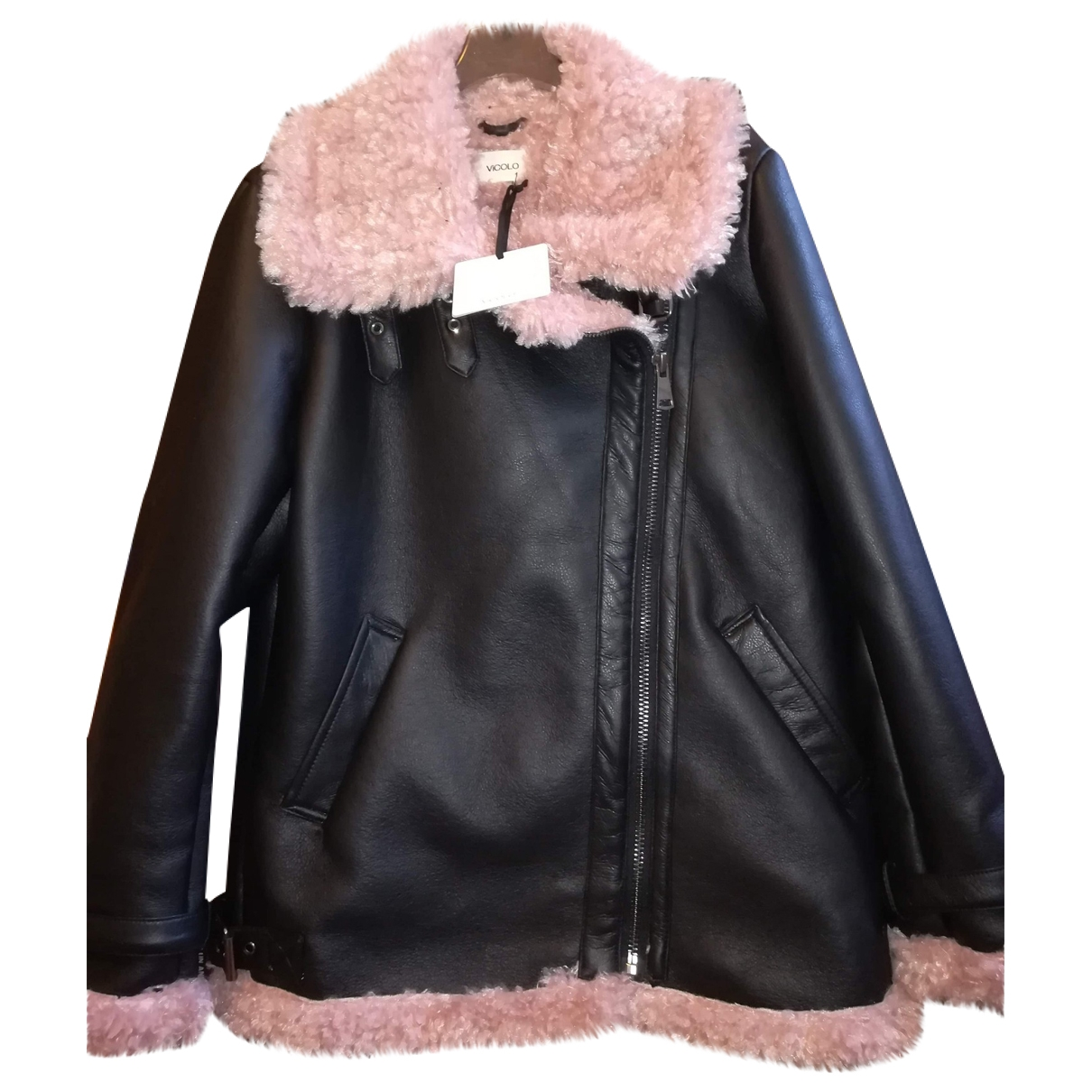 Vicolo \N Leather coat for Women M International