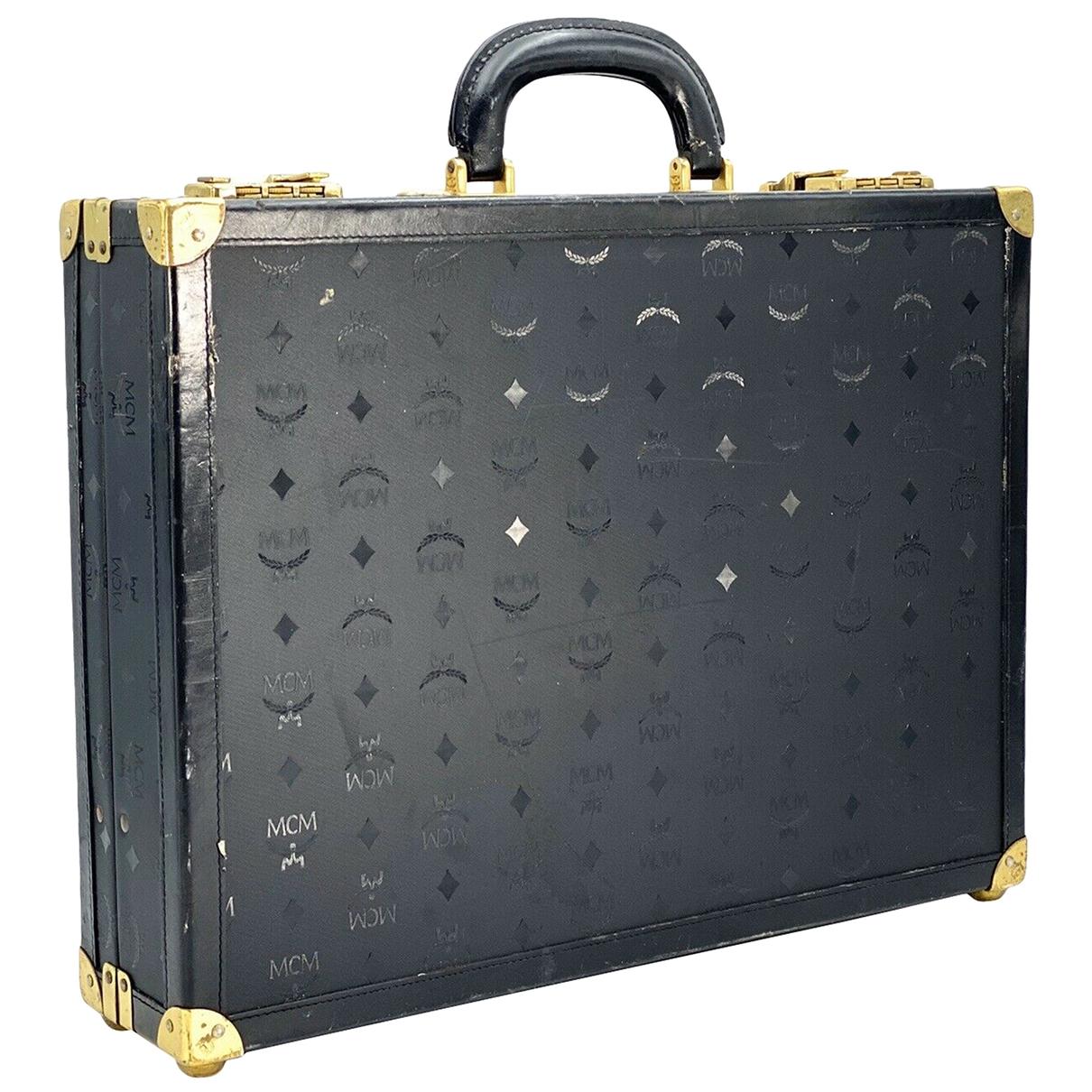 Mcm \N Black Leather Travel bag for Women \N