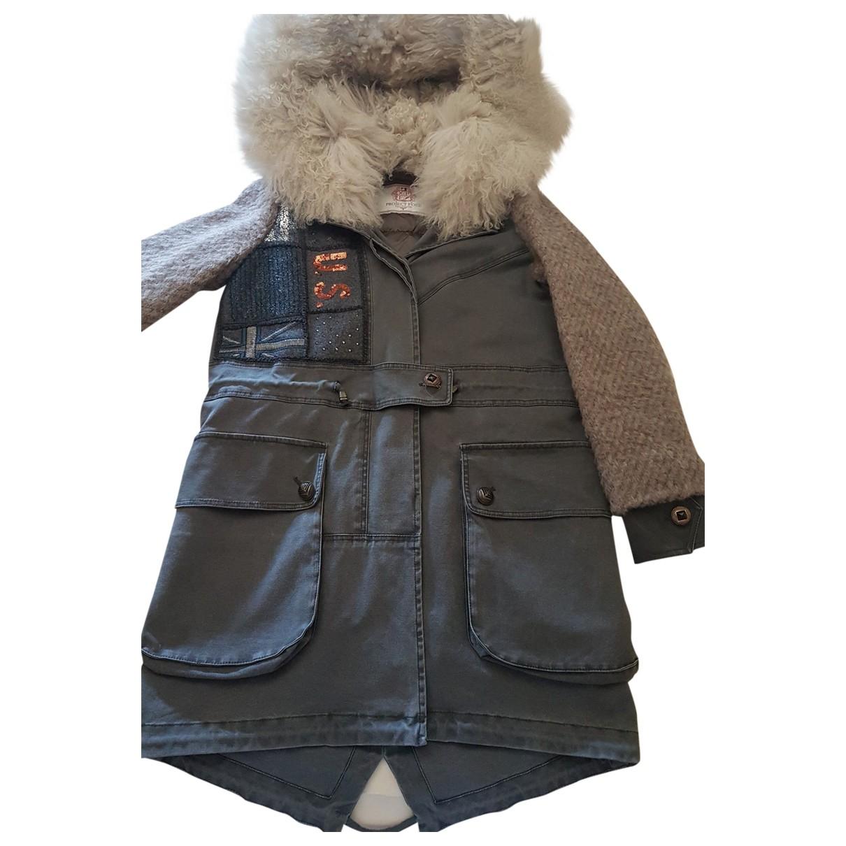 Project Foce Single Season \N Grey Cotton coat for Women 40 IT