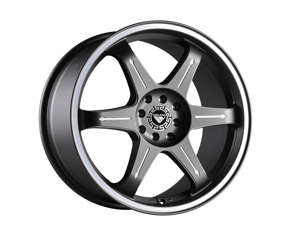 Velox Momentum Gunmetal Ball Cut Machined Wheel 15x7 4x100/114.3 42
