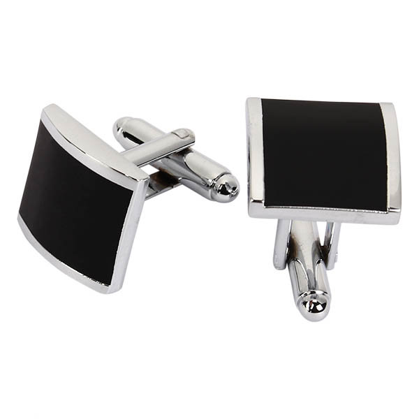 WSC Men Metal Series Stylish Cufflinks Enamel Square Shape Decoraction for Shirts Accessories