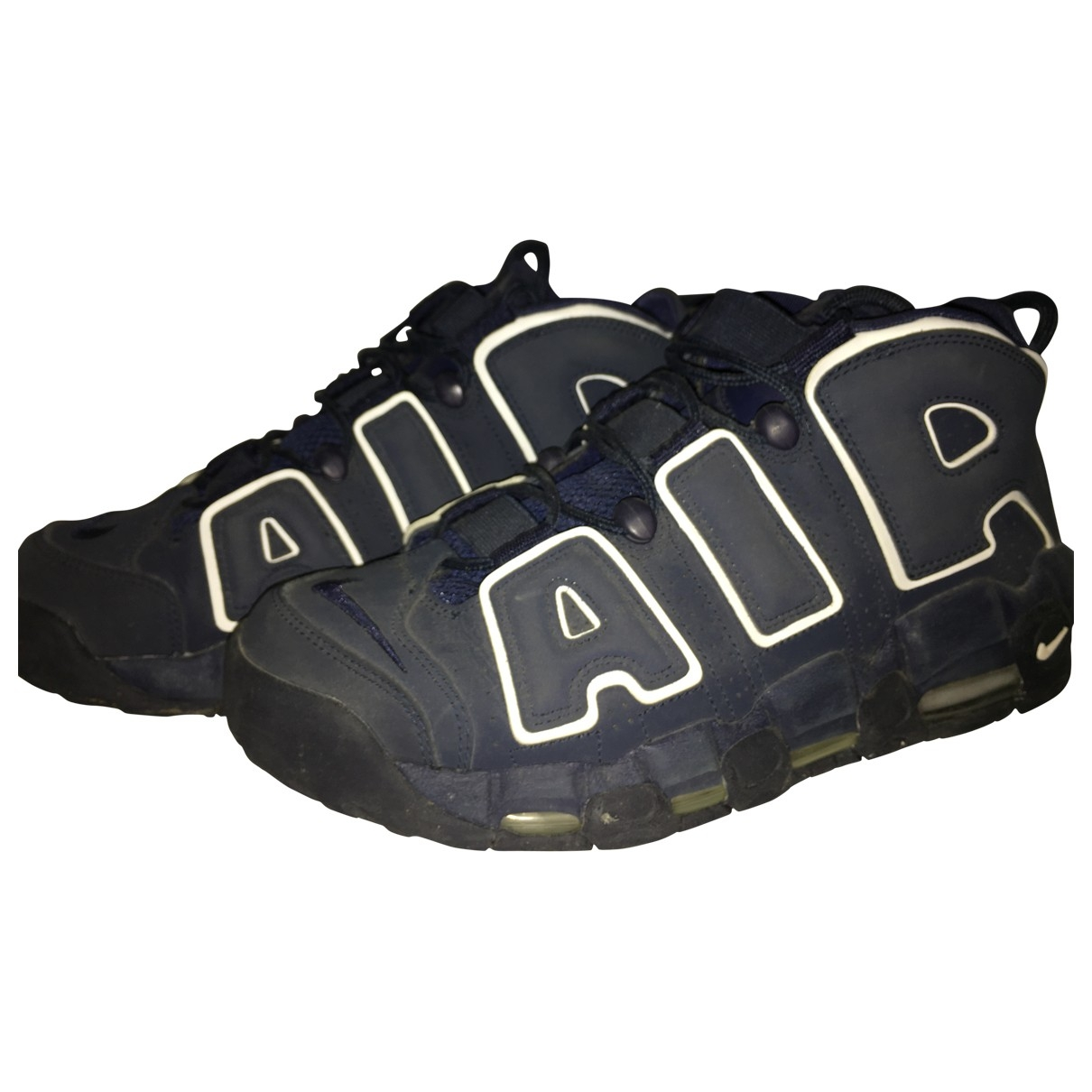 Nike Air More Uptempo Blue Suede Trainers for Men 9 US