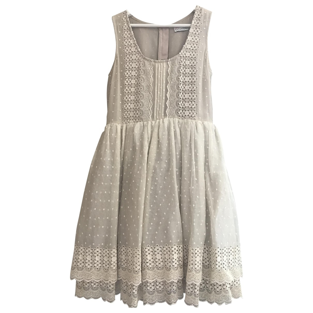 Red Valentino Garavani \N Beige Silk dress for Women 10 UK