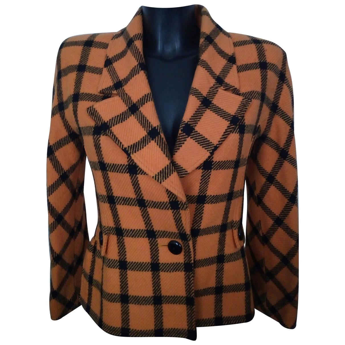 Valentino Garavani \N Orange Tweed jacket for Women XXS International