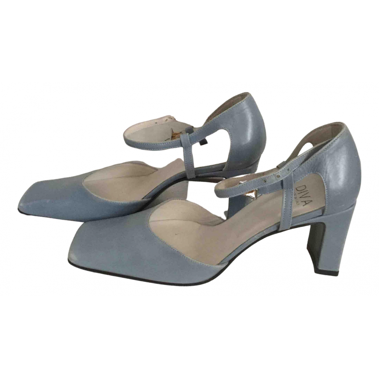 Non Signé / Unsigned \N Leather Heels for Women 38 IT