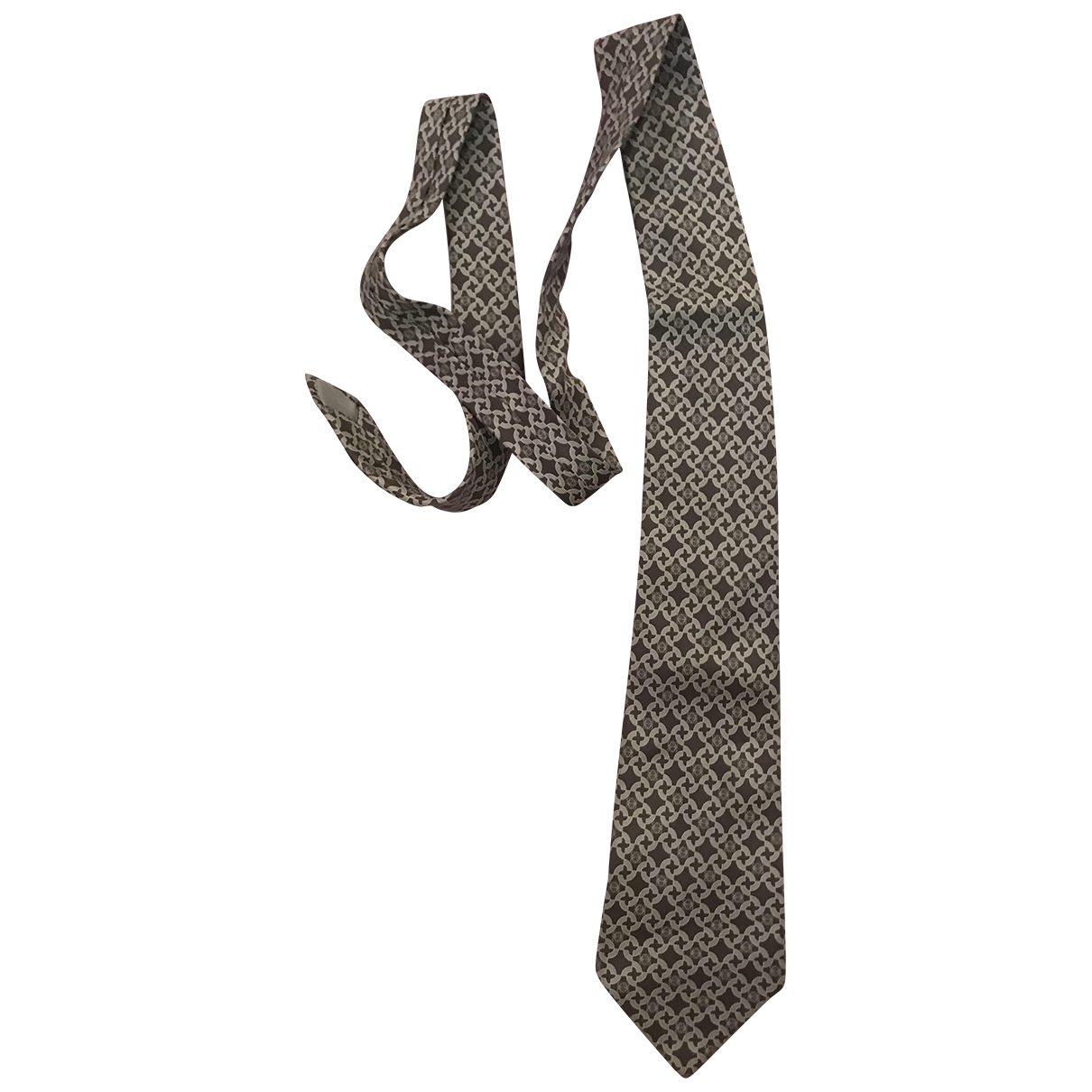 Loewe \N Grey Silk Ties for Men \N