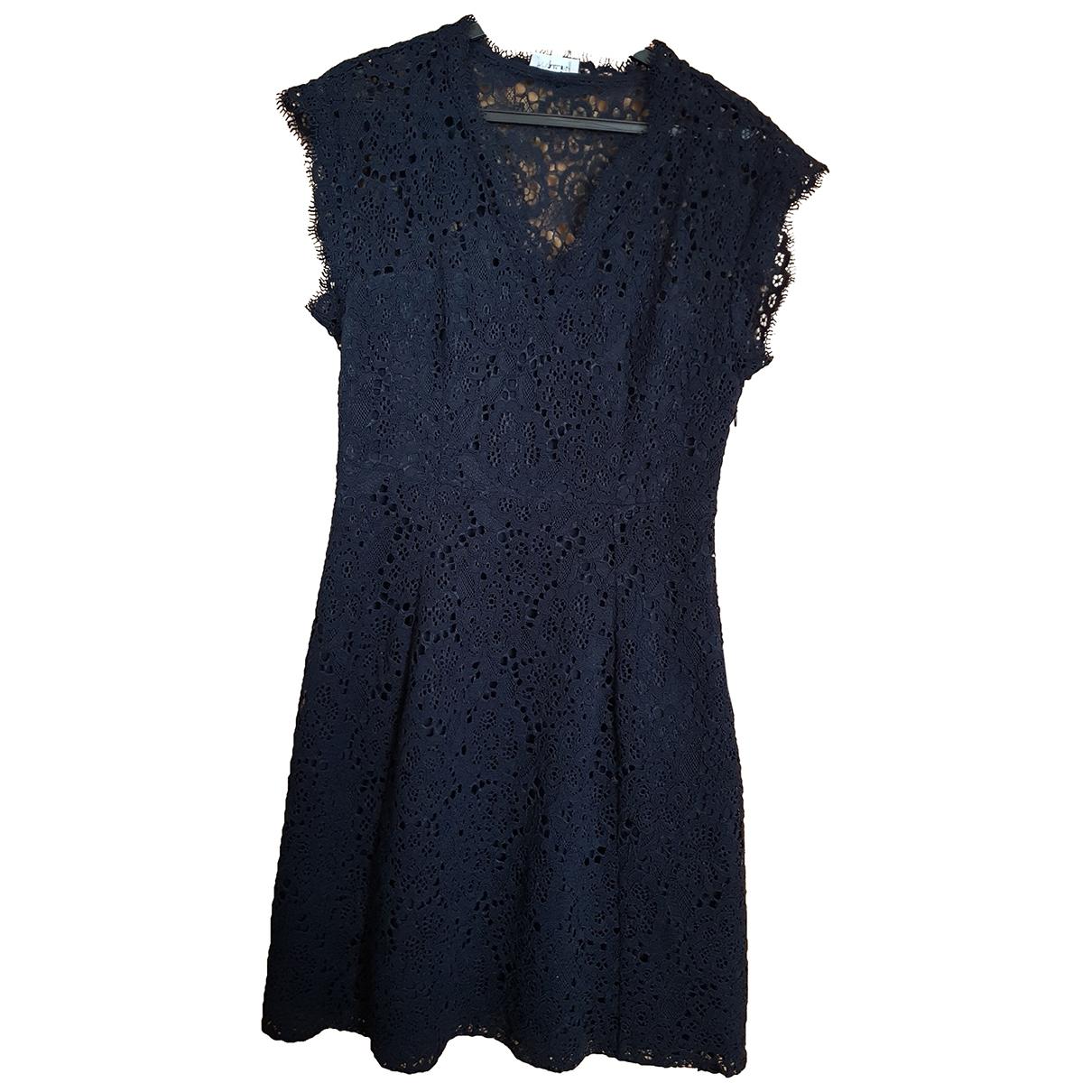 Claudie Pierlot Spring Summer 2019 Navy Cotton dress for Women 38 FR