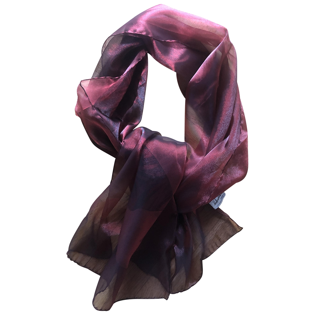 Salvatore Ferragamo \N Burgundy Silk scarf for Women \N