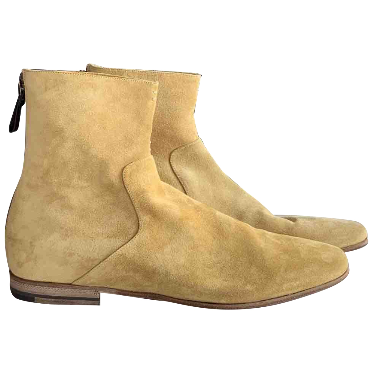 Sergio Rossi \N Camel Suede Boots for Men 8 UK
