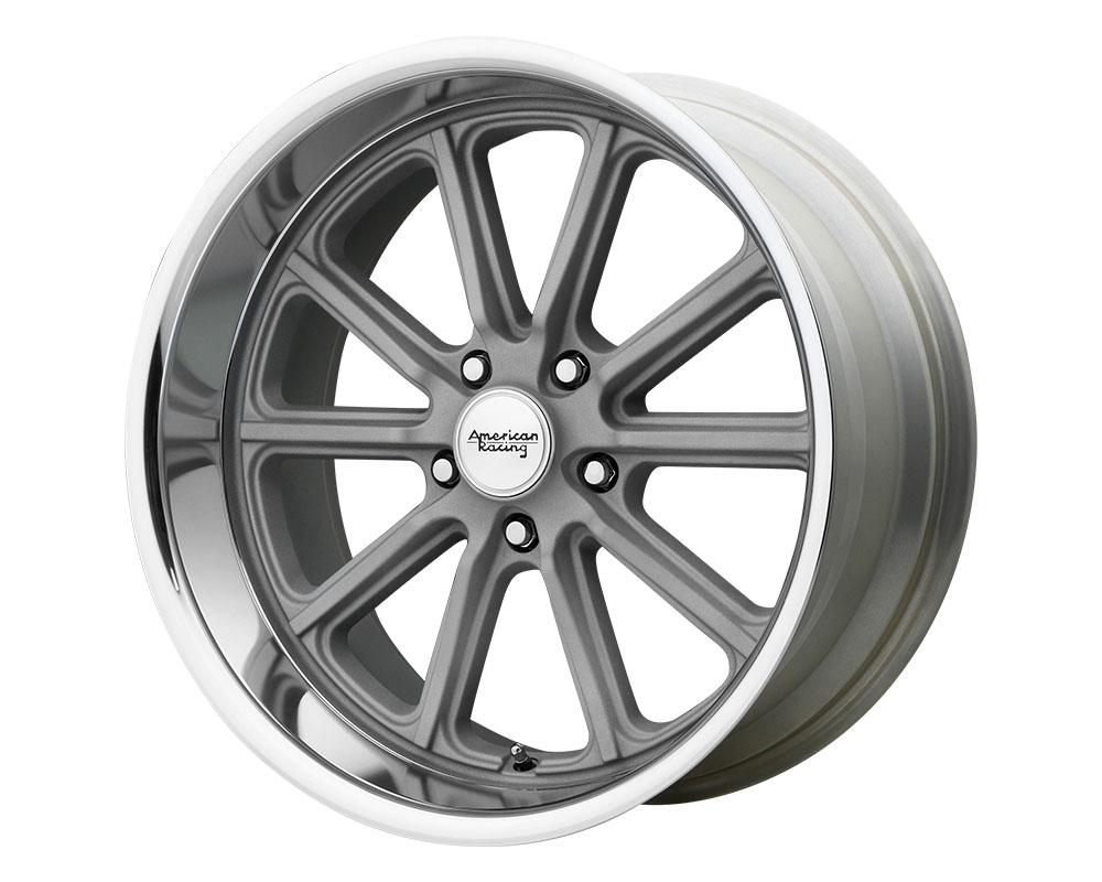 American Racing VN507 Rodder Wheel 17x8 5x5x114.3 +0mm Vintage Silver Diamond Cut Lip