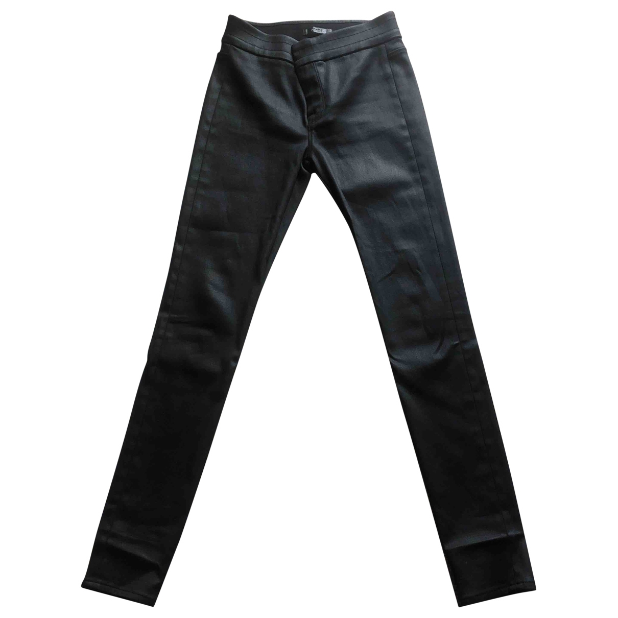 7 For All Mankind \N Black Trousers for Women 40 IT