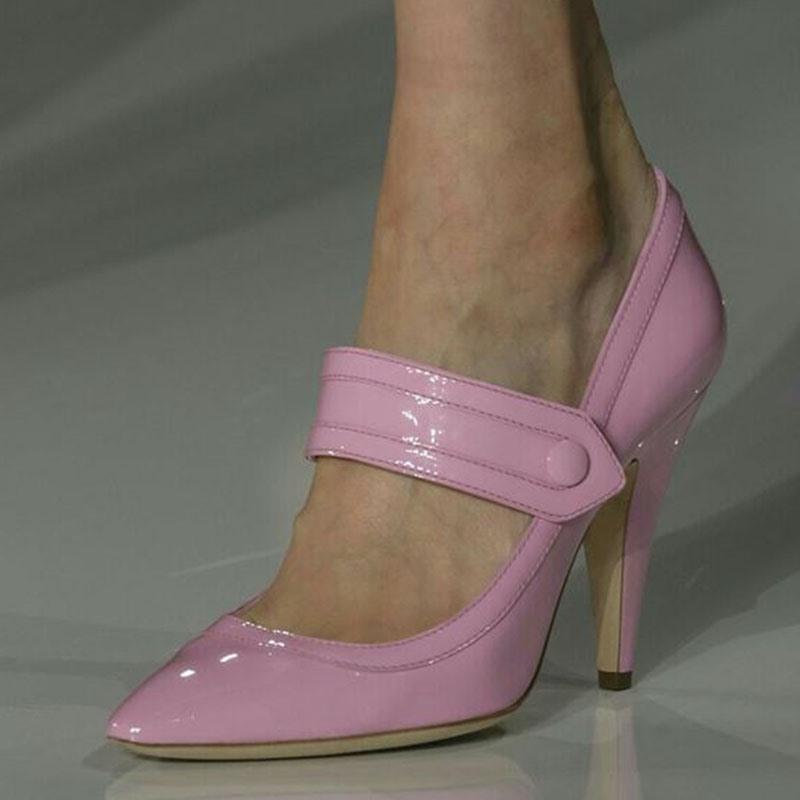 Ericdress Customized Slip-On Spool Heel Pointed Toe Pumps