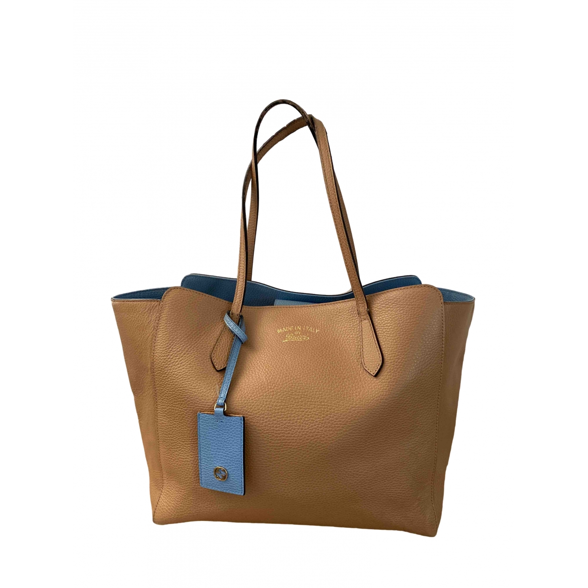 Gucci Swing Beige Leather handbag for Women \N