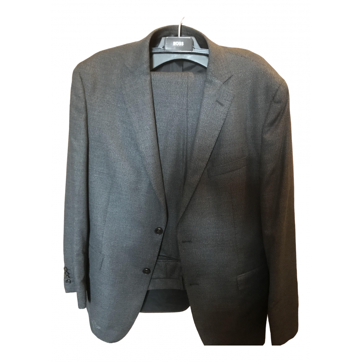 Boss \N Grey Cotton Suits for Men 44 UK - US