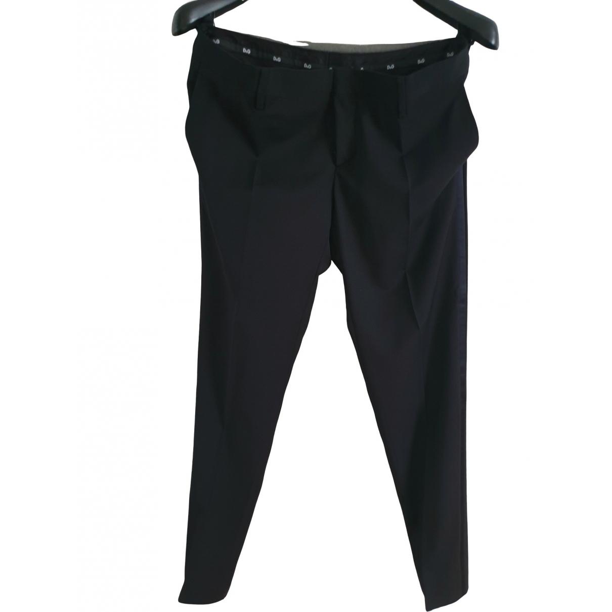 D&g \N Black Wool Trousers for Men 52 IT