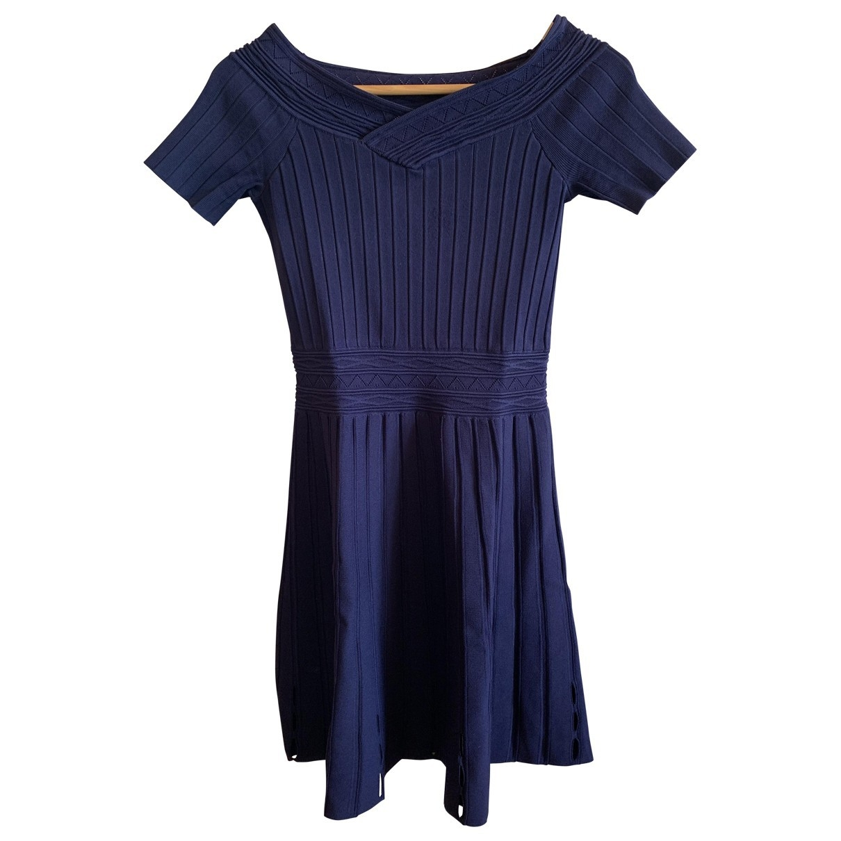 Sandro \N Blue Cotton dress for Women 36 FR