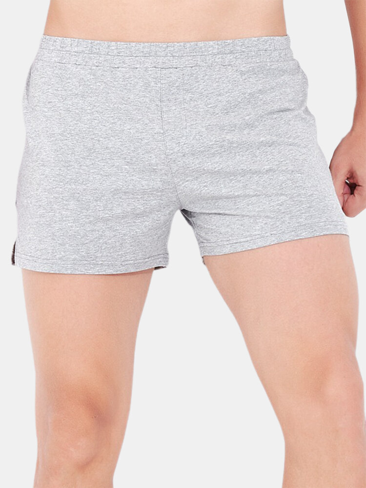 Plain Color Cotton Cozy Lounge Breathable Sleepwear Mini Sport Shorts