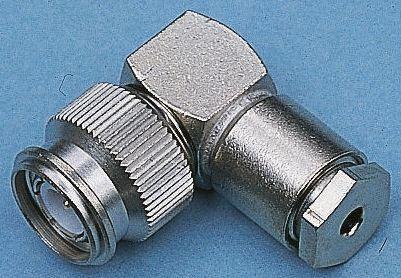 Telegartner Right Angle 50Ω Cable Mount Coaxial Connector, Plug, Nickel, RG174/U, RG188 A/U, RG316/U