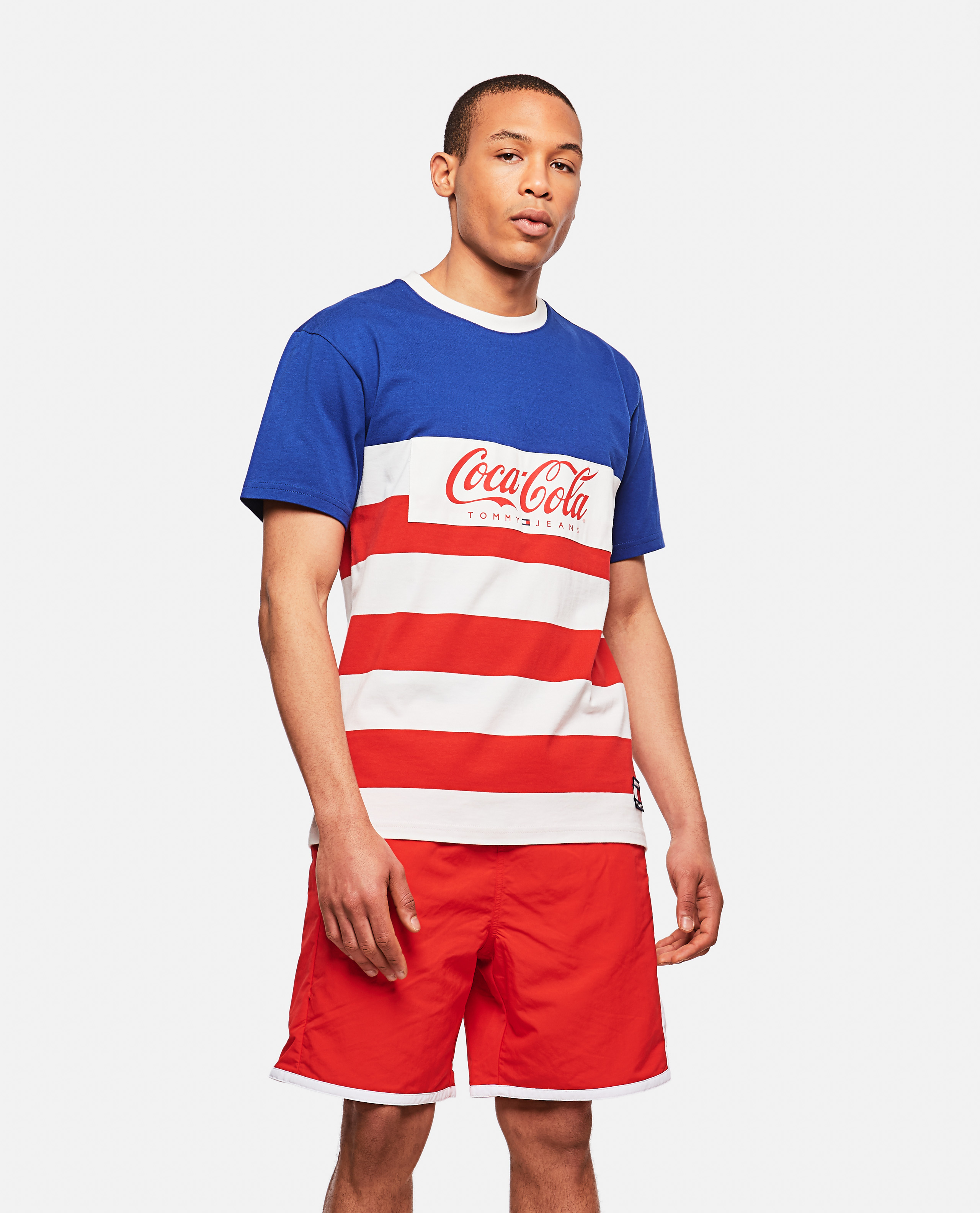 Striped T-Shirt With Coca Cola X Tommy Jeans Logo