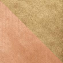 Dbl-Sided Rose Gold/Champagne Gift Wrap Colored - 24 X 208' - Gift Wrapping Paper by Paper Mart