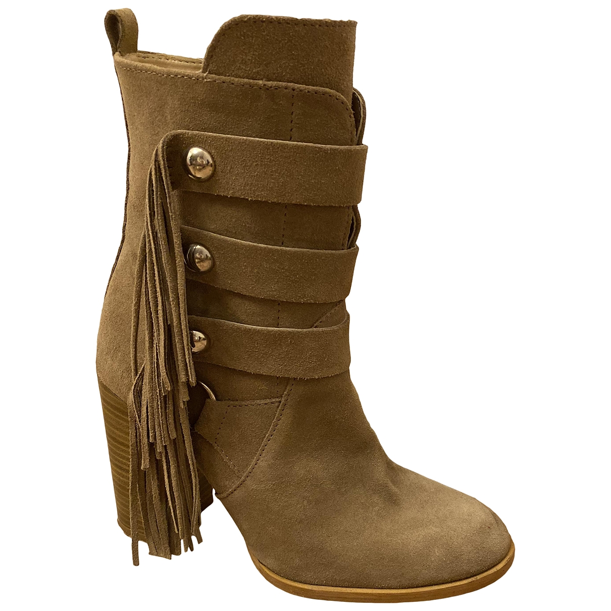 Zara \N Beige Suede Boots for Women 37 EU