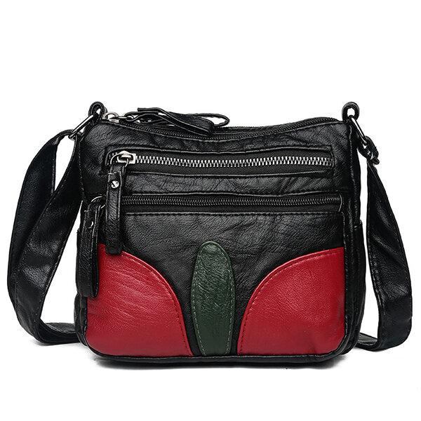 Women Soft Leather Leisure Shoulder Bag Crossbody Bag