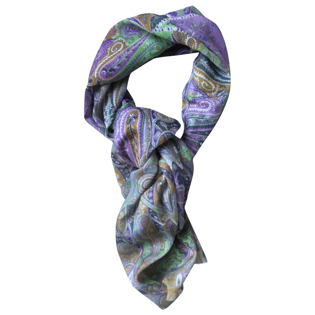Non Signé / Unsigned \N Multicolour Wool scarf for Women \N