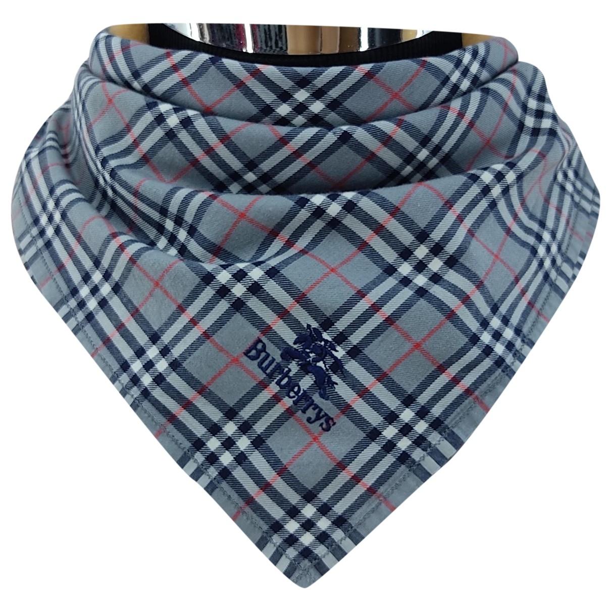 Burberry \N Blue Cotton scarf & pocket squares for Men \N