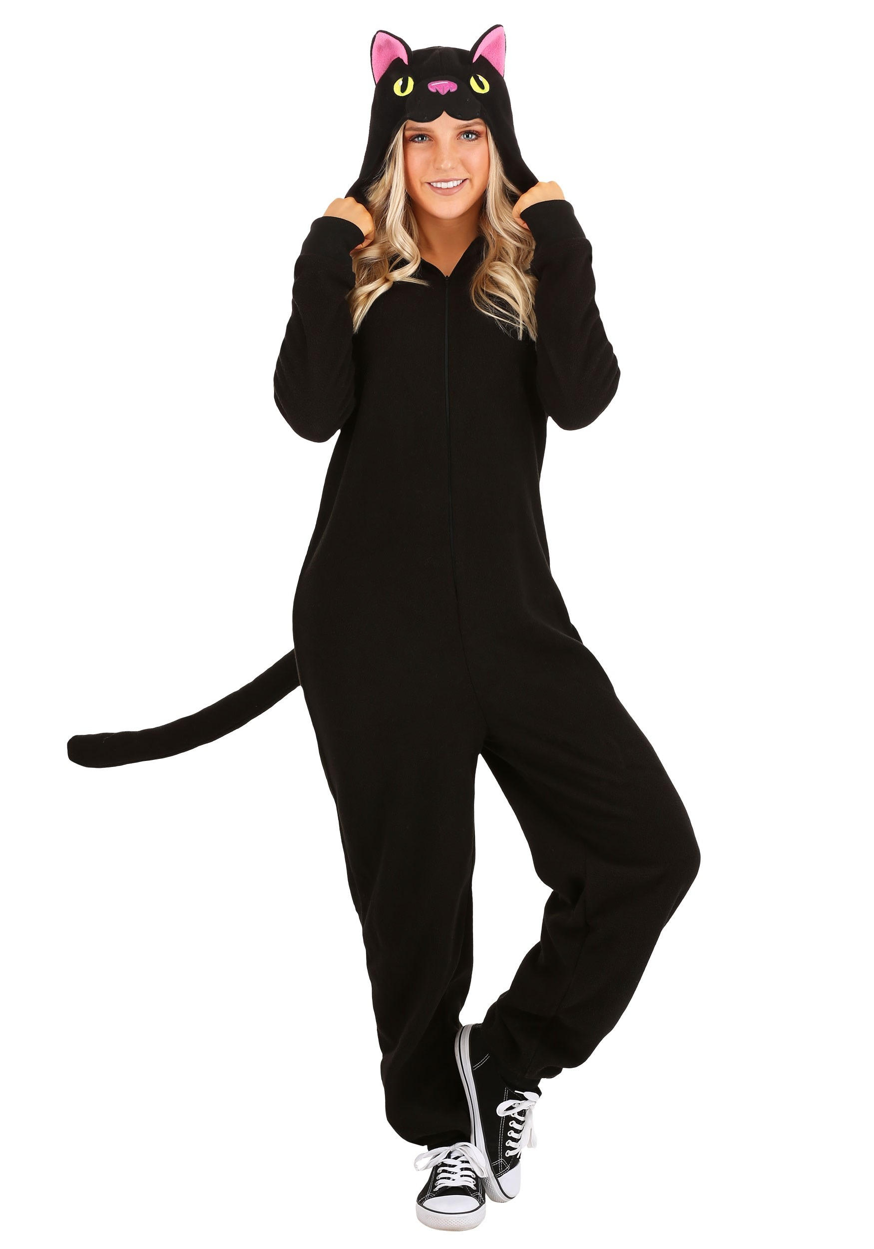 Black Cat Onesie for Adults