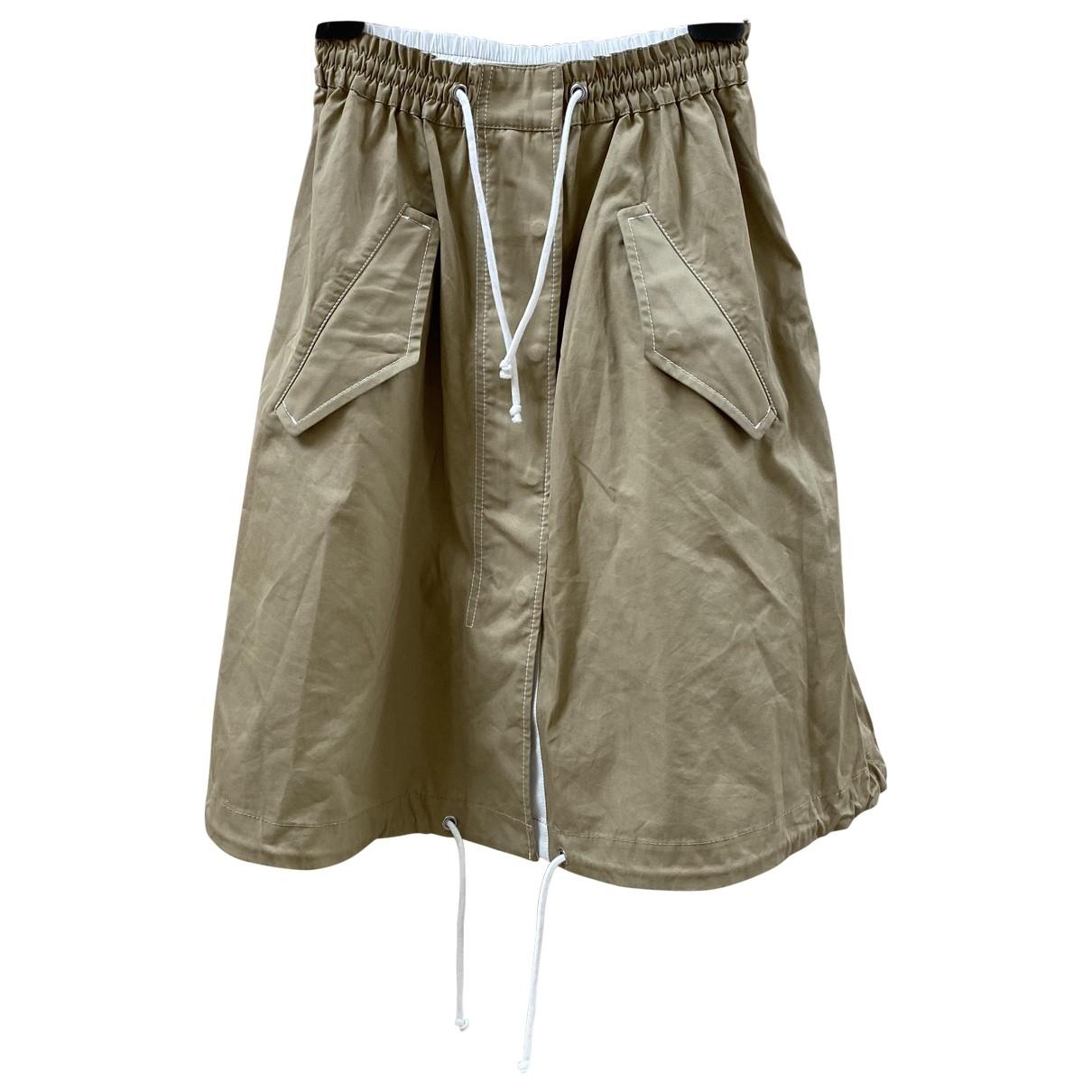 H&m Studio \N Beige Cotton skirt for Women 36 FR
