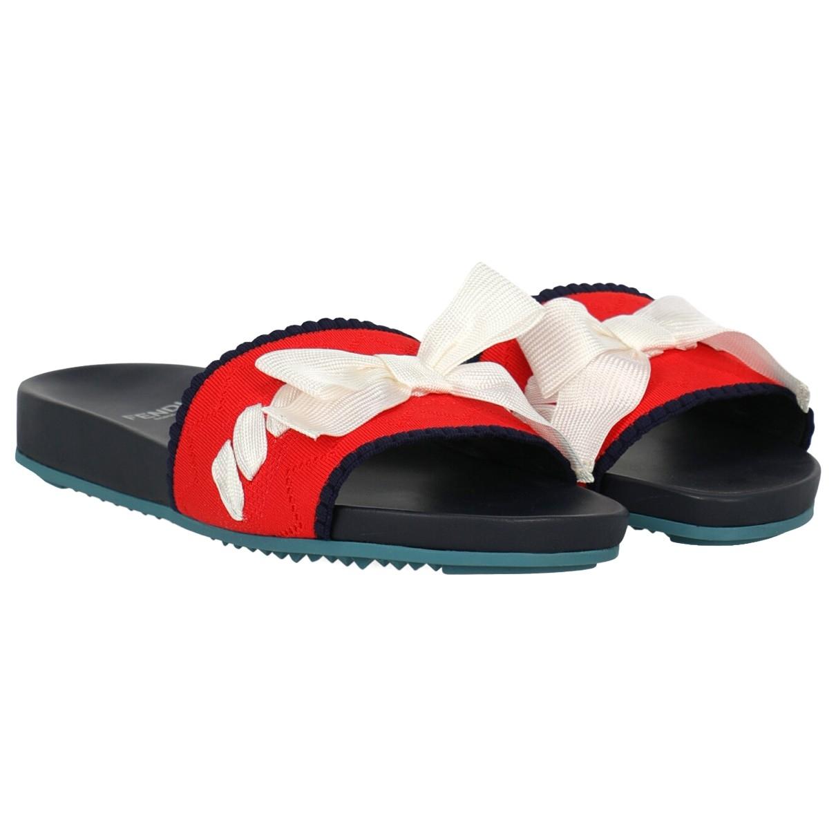 Fendi \N Red Cloth Sandals for Women 38.5 EU