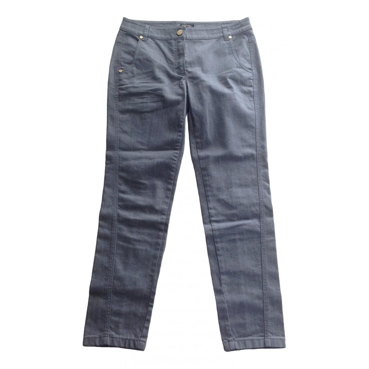 Escada \N Grey Cotton - elasthane Jeans for Women 36 FR